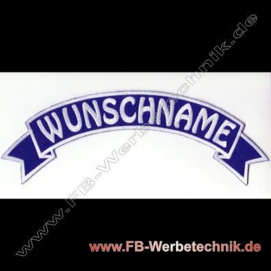 1012 WUNSCHNAME Aufnaeher Patch