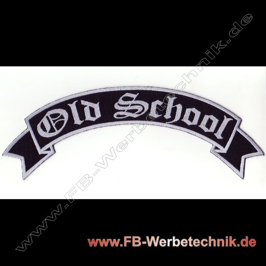 1135 OLD SCHOOL Biker Aufnäher patch