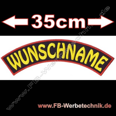 1417 WUNSCHNAME Name gestickt Patch
