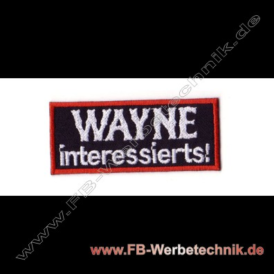 1498 WAYNE interessierts Patch Patches