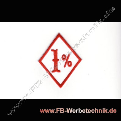 1% Biker Aufnaeher Patch Patches