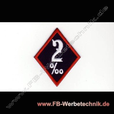2 promille Aufnaeher Motorrad Patch Patches