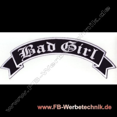1758 Bad Girl Aufnaeher Motorrad Patch Patches