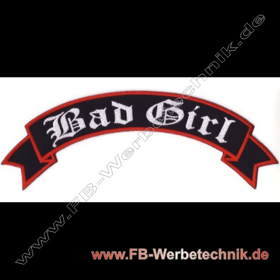 1762 Bad Girl Aufnaeher Biker Patch Patches