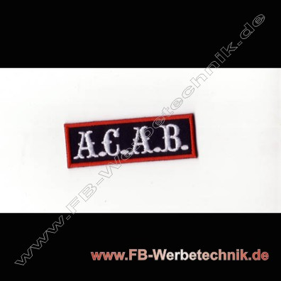 A.C.A.B. Aufnaeher Motorrad Patch Patches