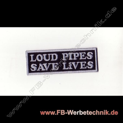 1796 Loud Pipes Aufnaeher Motorrad Patch Patches