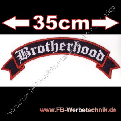 Brotherhood 35cm Aufnaeher Motorrad Patch Patches