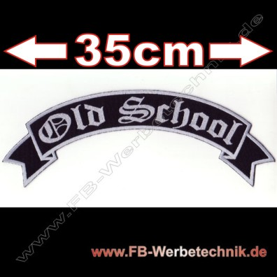 Old School 35cm Biker Patch Patches Aufnaeher