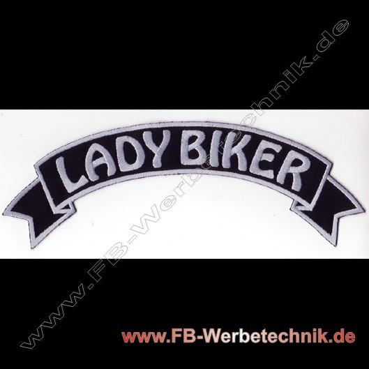 1105 LADY BIKER Aufnäher Biker Patch