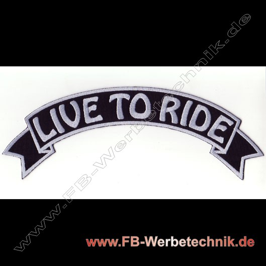 1108 LIVE TO RIDE Aufnäher Biker Patch