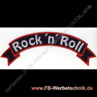 ROCK n ROLL Aufnaeher Backpatch