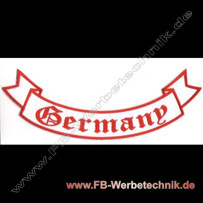 GERMANY Aufnäher Biker Backpatch