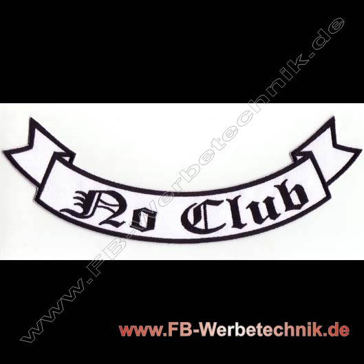NO CLUB Aufnäher Biker Backpatch