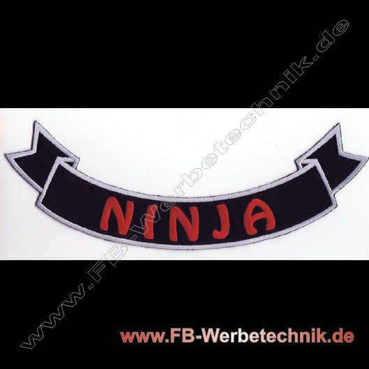NINJA Aufnäher Biker Patch Patches