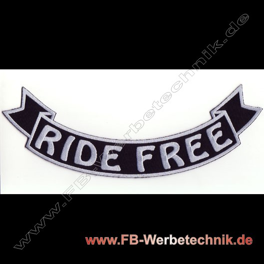 RIDE FREE Aufnäher Biker Backpatch