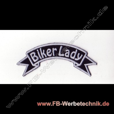 BIKER LADY Aufnaeher Patch
