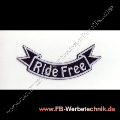 RIDE FREE Biker Aufnäher Patch