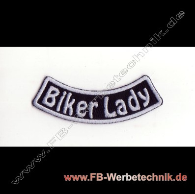 BIKER LADY Aufnäher Biker Patch