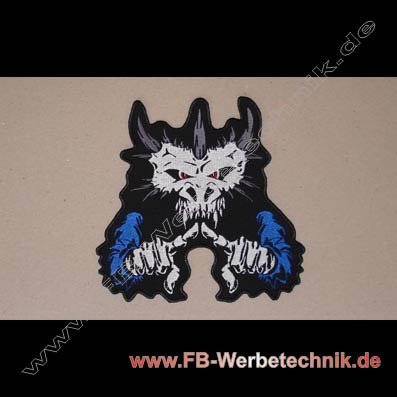 1451 Monster Skull Aufnäher Biker Patch