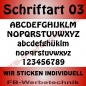 Mobile Preview: Wunschtext Flaggen SET 50 cm Patches S03
