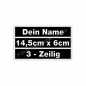 Preview: Wunschtext Name 14,5x6cm Patches Aufnäher 3in1 S01