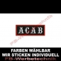 Preview: A C A B Aufnäher Patches 8x3cm ACAB Patch