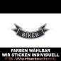 Preview: BIKER Patch Flagge UNTEN 12cm Aufnäher S03