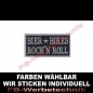 Preview: Bier Bikes Rock n Roll Aufnäher Patch 8x4cm