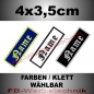 Preview: Namenstreifen 4x3,5 cm gestickt S02