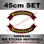Preview: Wunschtext Flaggen SET 45 cm Patches S02