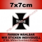 Preview: Wunschtext Kreuz 7x7cm Patch S03