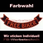 Mobile Preview: FREE BIKER Bottom Rocker 29cm Patches S03