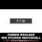 Preview: FTW Aufnäher Patches 10cm x 2,5cm