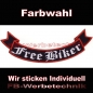 Mobile Preview: Free Biker Bottom Rocker 29cm Aufnäher Patches S02