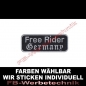 Preview: Free Rider Germany Aufnäher Patches 9cm x 3,5cm