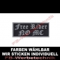 Preview: Free Rider NO MC Aufnäher Patches 10cm x 4cm