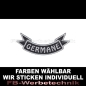 Preview: GERMANE Patch Flagge UNTEN 12cm Aufnäher S03