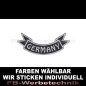Preview: GERMANY Patch Flagge UNTEN 12cm Aufnäher S03
