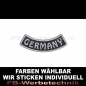 Mobile Preview: GERMANY Patches Bogen UNTEN 9cm Aufnäher S03