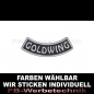 Mobile Preview: GOLDWING Patch Bogen UNTEN 9cm Aufnäher S03