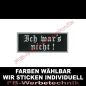 Mobile Preview: ICH WAR'S NICHT Aufnäher Patches 10cm x 4cm