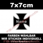 Preview: Wunschtext Kreuz 7x7cm Patch S01