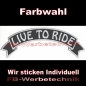 Preview: LIVE TO RIDE Top Rocker 29cm Patches Aufnäher S03