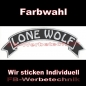 Preview: LONE WOLF Top Rocker 29cm Patches Aufnäher S03