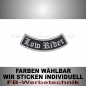 Mobile Preview: Low Rider Patches Bogen UNTEN 9cm Aufnäher S02