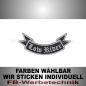 Preview: Low Rider Patch Flagge UNTEN 12cm Aufnäher S02