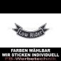 Mobile Preview: Low Rider Patch Flagge UNTEN 12cm Aufnäher S03