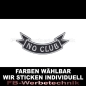 Preview: No Club Patch Flagge UNTEN 12cm Aufnäher S03