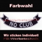 Mobile Preview: NO CLUB Bottom Rocker 29cm Aufnäher Patches S03