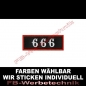 Preview: 666 Patch Aufnäher Patches 8x3cm